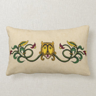 Medieval Lion Design Lumbar Pillow