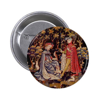 Medieval lovers 2 inch round button