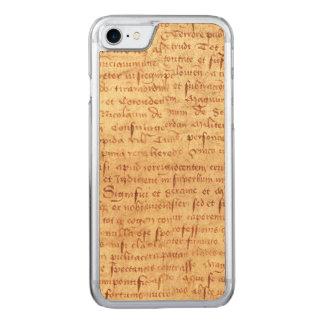 Medieval manuscript carved iPhone 7 case