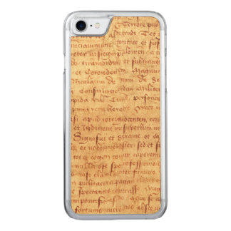 Medieval manuscript carved iPhone 8/7 case
