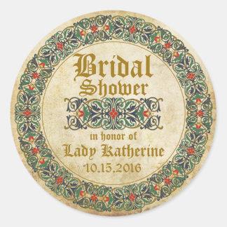 Medieval Manuscript Goth Bridal Shower Label