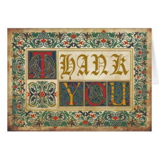 Medieval Manuscript Goth Thank You Card