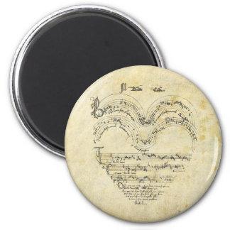 Medieval Manuscript Heart Magnet