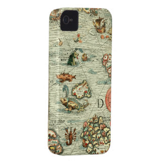 Medieval Mariners Map iPhone4 Case