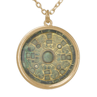 Medieval Medallion Gold Plated Necklace