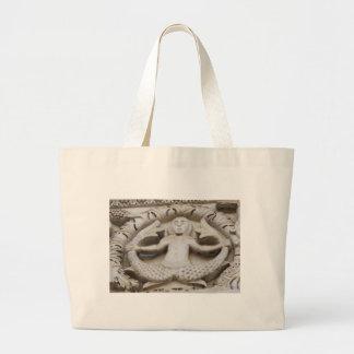 Medieval Mermaid Large Tote Bag
