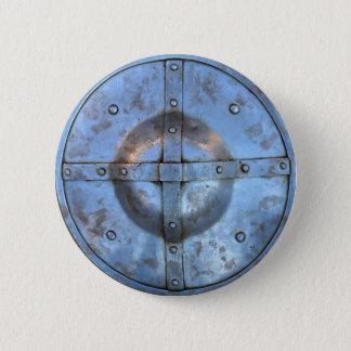 medieval metal shield weapon historic soldier war 2 inch round button
