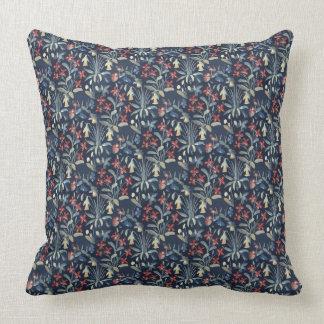 "Medieval Millefleur Throw Pillow 20"" x 20"""