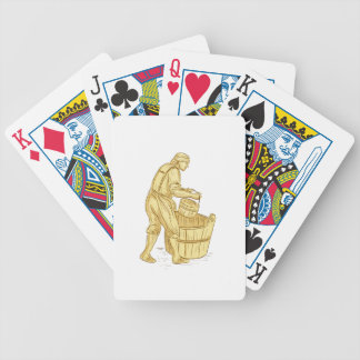 Medieval Miller With Bucket Drawing Bicycle Playing Cards