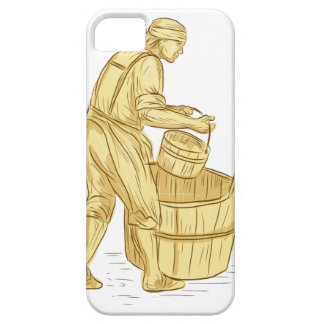 Medieval Miller With Bucket Drawing Case For The iPhone 5