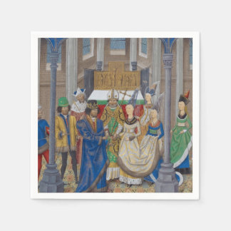 Medieval Mixed Race Wedding Painting Disposable Napkins