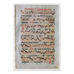 Medieval Music Score Poster