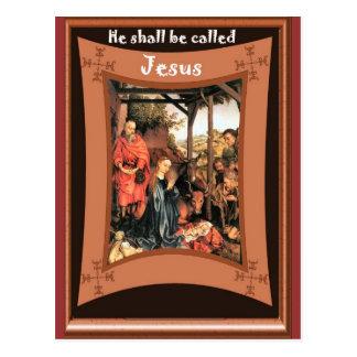 Medieval Nativity scene Postcards