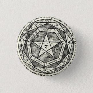 Medieval pentagram 1 inch round button