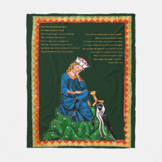 Medieval Poetry Blanket