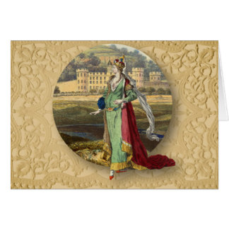 Medieval Queen With Castle Card