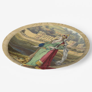 Medieval Queen With Castle Paper Plate