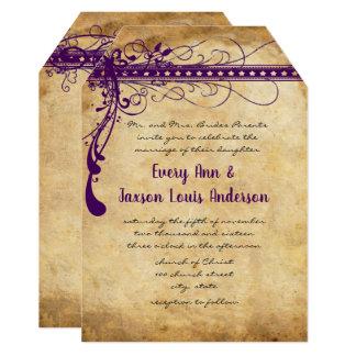 Medieval Renaissance Purple Faux Parchment Card