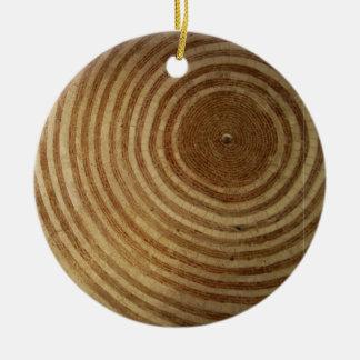 Medieval roof round ceramic ornament