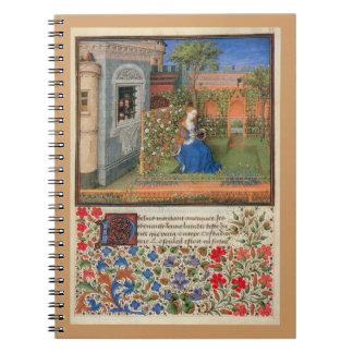 medieval rose garden notebook