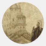 Medieval Round Stickers