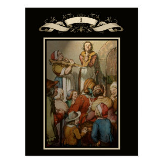 Medieval scene postcard