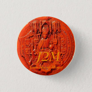 medieval seal, J2M, Jean-Marie Moyer 1 Inch Round Button
