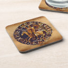 Medieval Seal of the Knights Templar Coaster