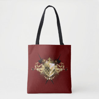 Medieval Shield All-Over-Print Tote Bag