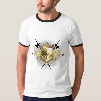 Medieval Shield Ringer T-Shirt