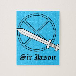 Medieval Shield w/ Sword Jigsaw Puzzle