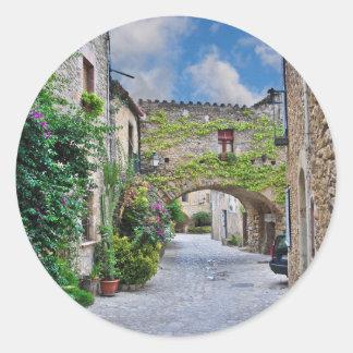Medieval Spain Classic Round Sticker