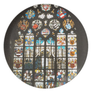 Medieval stained glass window, Holland Plate