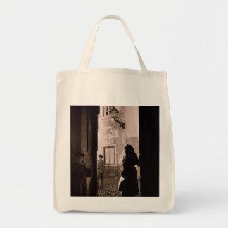 MEDIEVAL STREET LISBON 1940's (Photo) Tote Bag