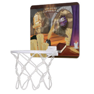 Medieval Study Mini Basketball Hoop
