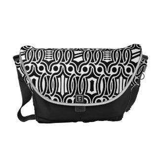 medieval style pattern messenger bag