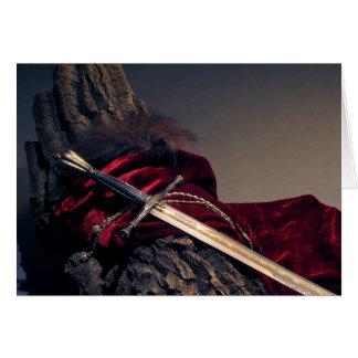 Medieval Sword Greeting Card