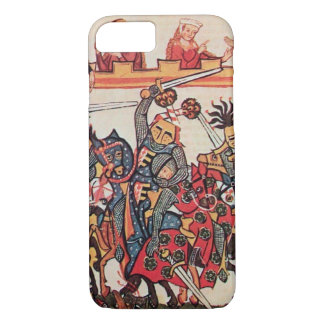 MEDIEVAL TOURNAMENT, FIGHTING KNIGHTS AND DAMSELS iPhone 8/7 CASE