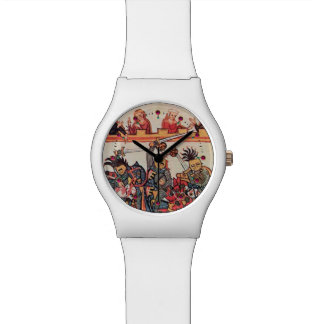 MEDIEVAL TOURNAMENT, FIGHTING KNIGHTS AND DAMSELS WRISTWATCHES