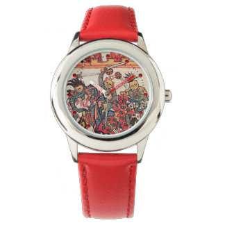 MEDIEVAL TOURNAMENT, FIGHTING KNIGHTS Miniature Watch