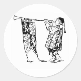 medieval tunics-1 round sticker