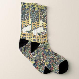 Medieval Unicorn Tapestry - Socks 1