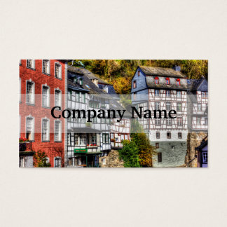 Medieval Village Monschau in Germany Business Card