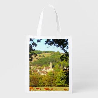 Medieval Village of Plazac Reusable Bag