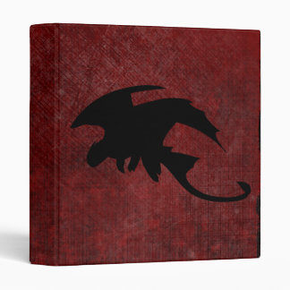 Medieval Vintage Fantasy Dragon 3 Ring Binders