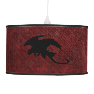 Medieval Vintage Fantasy Dragon Pendant Lamp