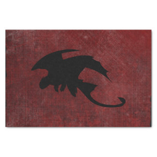 Medieval Vintage Fantasy Dragon Tissue Paper