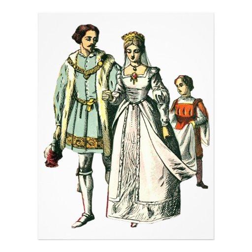 Medieval Wedding ~ Bride And Groom Letterhead Template