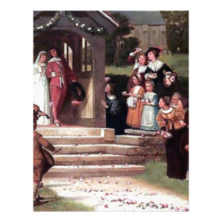 Medieval Wedding Bride Groom antique painting Personalized Letterhead