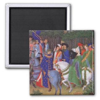 Medieval wedding procession magnet